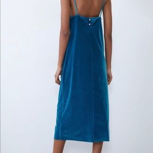 Zara velour dress